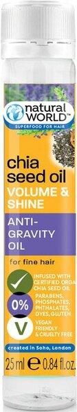 Natural World Chia Seed Oil Органик Терапия олио за коса с екстракт от Чия за обем, плътност и блясък 25 мл