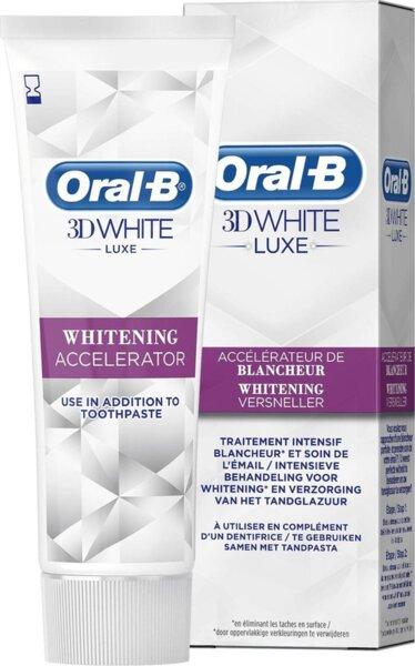 Избелващ крем - ускорител за зъби Oral B 3D White Luxe Whitening Versneller 75 мл