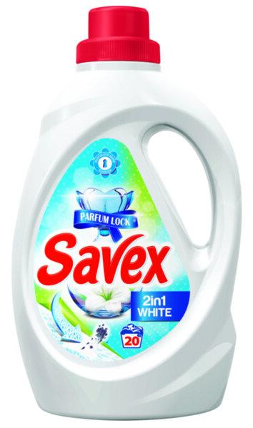 Течен перилен препарат Savex White 2in1 1.1L - 20 пранета