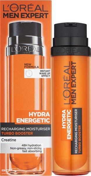 L`Oreal Men Expert Hydra Energetic Recharging Moisturiser Turbo Booster Енергизиращ крем бустер за лице за Мъже 50 мл Немско Качество