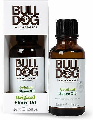 Bull Dog Man Original Shave oil Натурално масло за бръснене с Алое, Камелина и Зелен Чай 30 мл