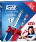 Комплект ел. четки за зъби Oral B Vitality + Star Wars, 2 четки, 1 основа, Таймер, Бял/Червен