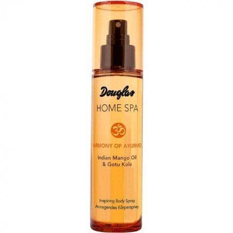Douglas Home Spa Harmony of Ayrveda Вдъхновяващ Парфюмен спрей за тяло с масло от Индийско Манго и Готу Кола 100 мл