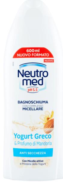 Neutro Med pH 5.5  Micellar Shower Gel with Almond and Yoghurt Мицеларен Душ Гел с Йогурт и Бадем 600 мл.