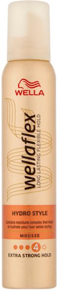 Wella Wellaflex Long Lasting Flexible Hold Hydro Style  Mousse Пяна за коса Хидратираща мус грижа за коса 200 мл.
