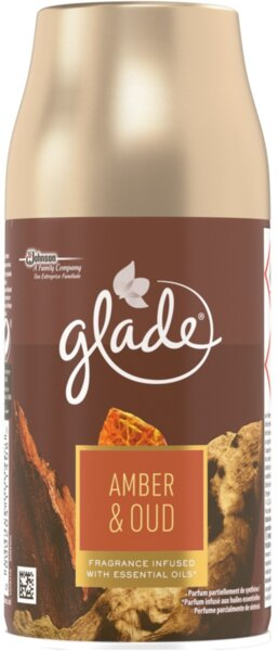Glade Amber and Oud Fragrance Infused with Essential Oils Air Freshener Ароматизатор за въздух с аромат на Амбър и Уд 269 мл.