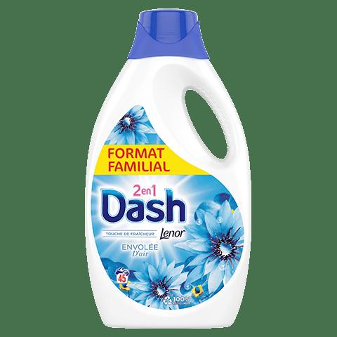 Dash 2in1 Lenor Envolee D`air Течен перилен препарат 2в1 Докосване на свежест 2.475 л/45 пр