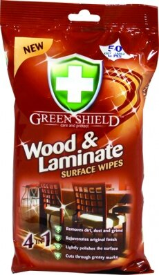 Green Shield Care and Protect Wood and Laminate Surface Wipes Кърпи за почистване на дървени и ламинирани повърхности 70 бр.