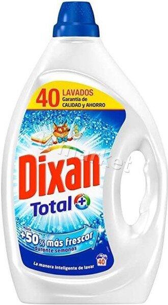 Dixan Total Fresh  Течен перилен препарат за пране на бели и цветни дрехи с траен аромат  2л / 40 пр