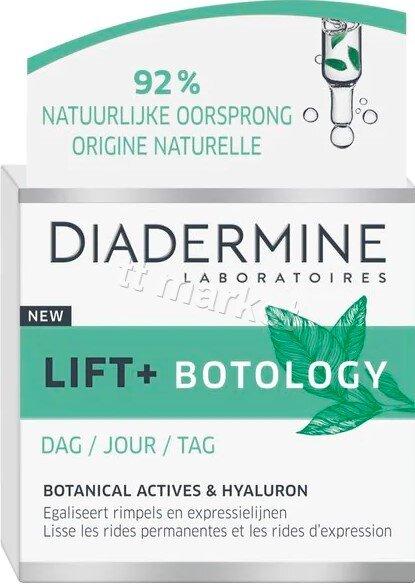 Diadermine  Lift + Botology  Дневен крем за лице  против бръчки с 92 % съставки с Натурален Произход и Хиалурон 50 мл