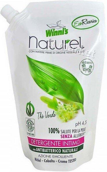 Winnis Naturel Интимен гел с натурални съставки  Екстракт от Зелен Чай и Кориандър 500 мл