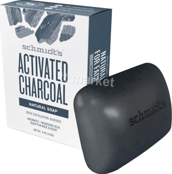 Schmidt's Activated Charcoal Natural Soap Bar Тоалетен Сапун с Активен Въглен 142 гр. Немско Качество