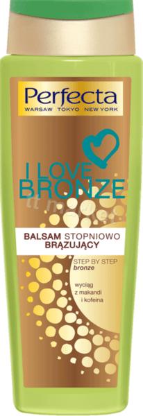 Perfecta I Love Bronze Body Lotion Автобронзиращ Лосион за Тяло за слънчев загар с Кофеин и Маканди 200 мл