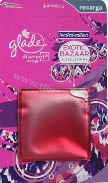 Glade Discreet Exotic Bazaar Wild Rose and Safron Limited EditionЛимитирана СерияПълнител за Ароматизатор за Въздух 8 гр.
