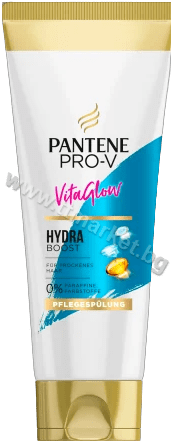 Pantene Pro-V Vita Glow Hydra Boost Conditioner Балсам за Интензивно Хидратиране на Суха Коса Без Парафин 200 мл. Немско Качество