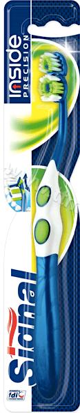 Signal Inside Precision Medium Toothbrush Четка за Зъби с Двойна Чупеща се Глава 1 бр. Английско Качество