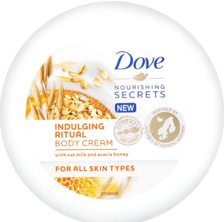 Dove Indulging Ritual Body Cream Крем Лосион за Тяло с Мляко от Овес и Мед от Акация 250 мл.