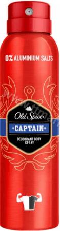 Old Spice Captain Deodorant Body Spray Мъжки Дезодорант Спрей Против Изпотяване Без Алуминиеви Соли 150 мл. Немско Качество