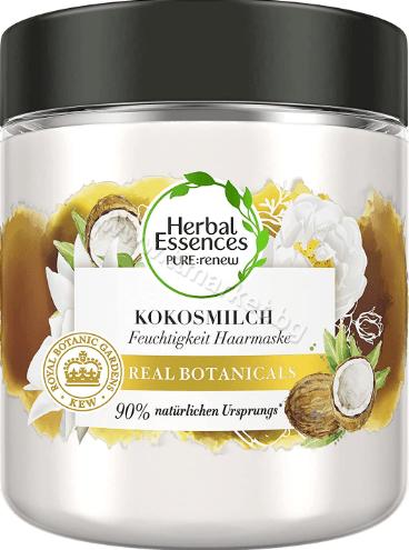 Herbal Essences Kokosmilch Хидратираща Маска за Коса с Кокосово Мляко за Суха Коса 90% Натурални Съставки 250 мл. Немско Качество