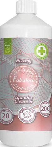 Fabulosa Disinfectant Laundry Cleanser ElectrifyДезинфектант за Пране Убива 99.9% от Бактериите 1л./20 Пранета Английско Качество