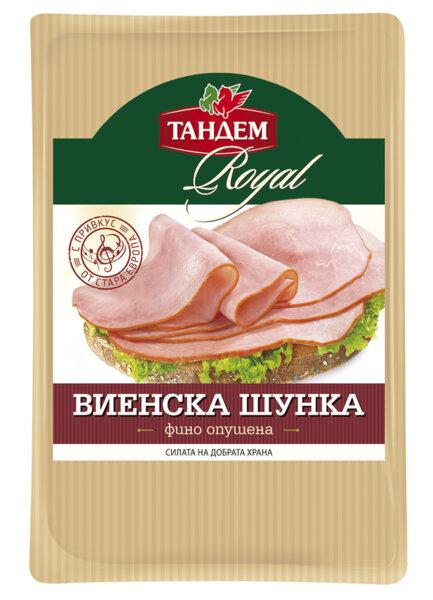 Шунка ТАНДЕМ ROYAL Виенска слайс 180гр