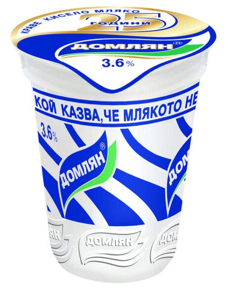 Кисело мляко ДОМЛЯН 3.6% 500 г