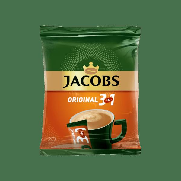 Разтворимо кафе JACOBS 3в1 плик 20х18 г