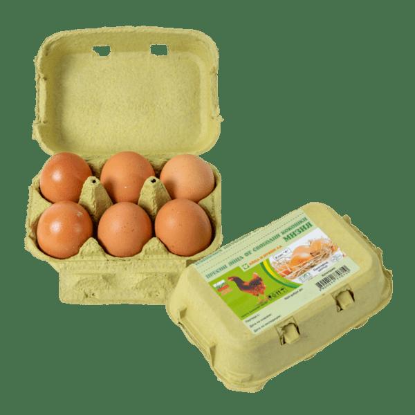 Яйца от свободни кокошки МИЗИЯ L 6 бр.