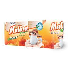 Тоалетна хартия MALIVA Tropical 3 пл 16 бр