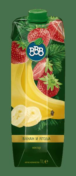 Нектар BBB банан и ягода 30% 1л