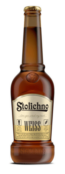 Бира STOLICHNO Weiss 4.2% бутилка  400мл