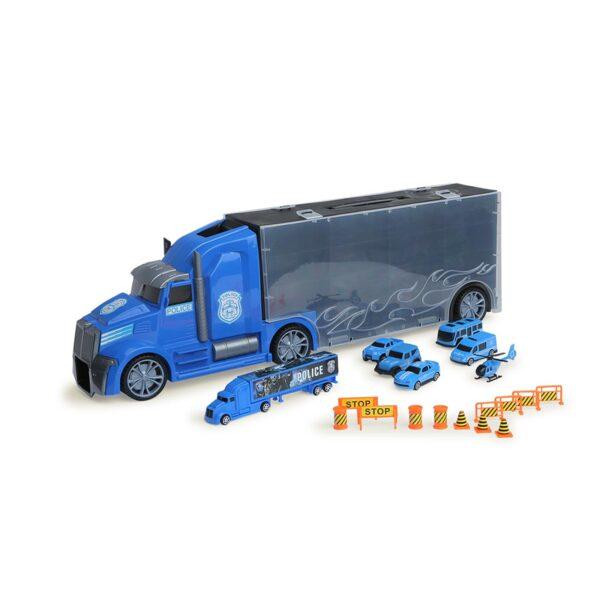 Комплект камион автовоз с коли CITY