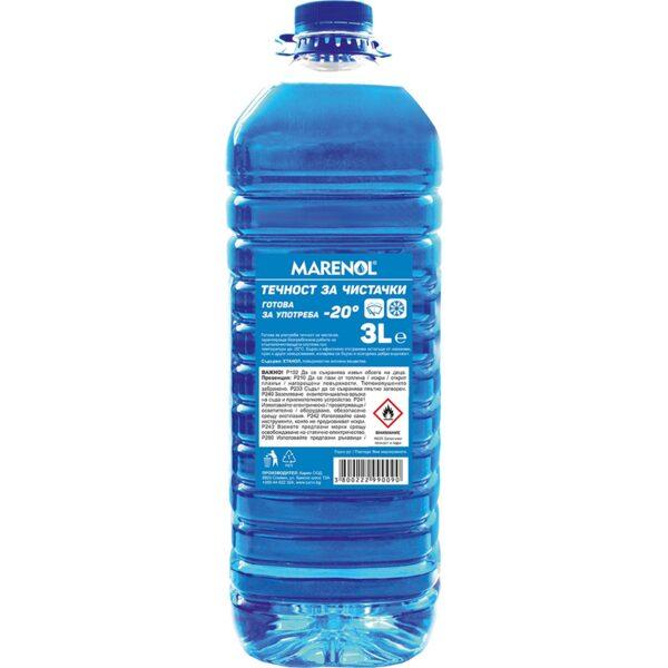 Зимна течност за чистачки МАRENOL 3 л -20 С