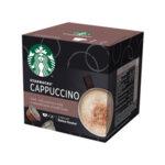 STARBUCKS Cappuccino от NESCAFÉ® DOLCE GUSTO, кафе капсули, кутия 12 капсули/6 напитки, 120g