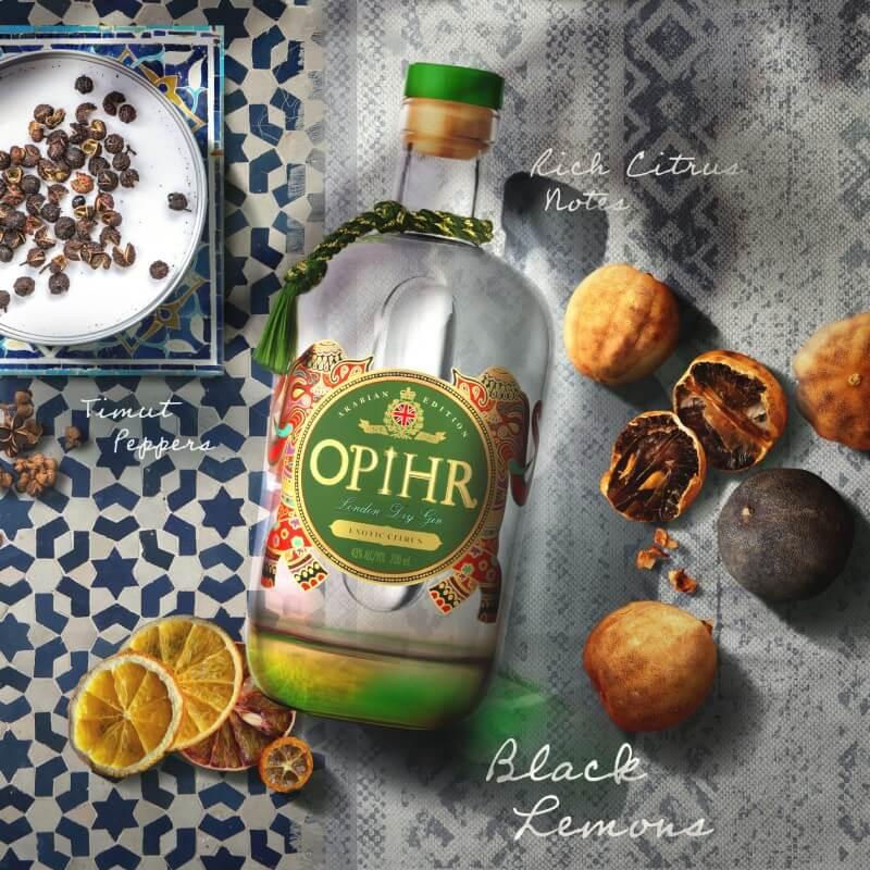 Джин Opihr с интензивен цитрусов вкус