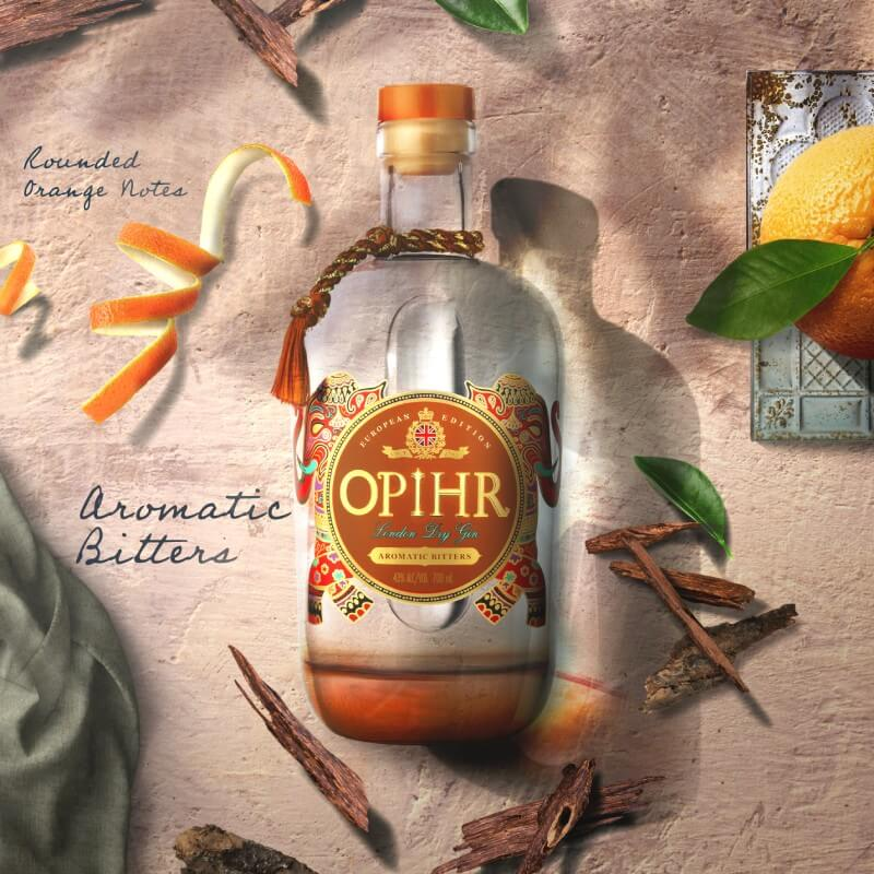 Джин Opihr с бленд от ароматна смирна и кора каскарила