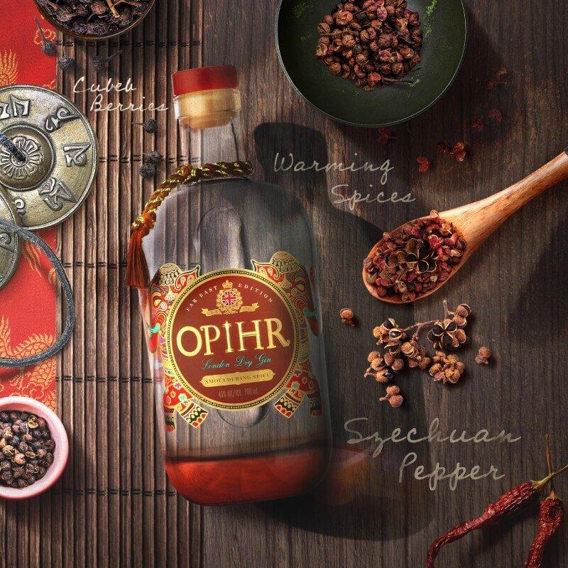 Джин Opihr със сечуански чушки и опушени нотки ажгон