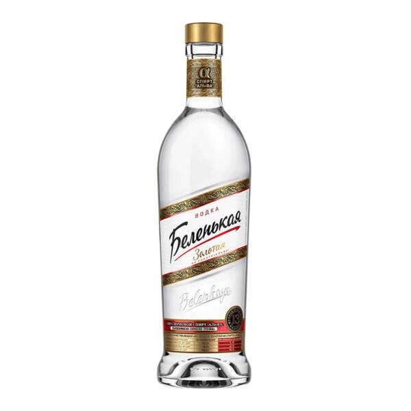 Водка Беленькая Золотая 1.0l.