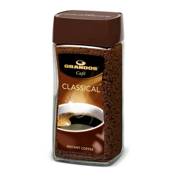 Разтворимо кафе на гранули Грандос Classical Стъклен буркан 200гр.
