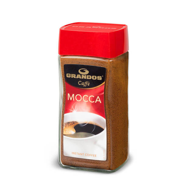 Прахообразно разтворимо кафе Грандос MOCCA Стъклен буркан 100гр.