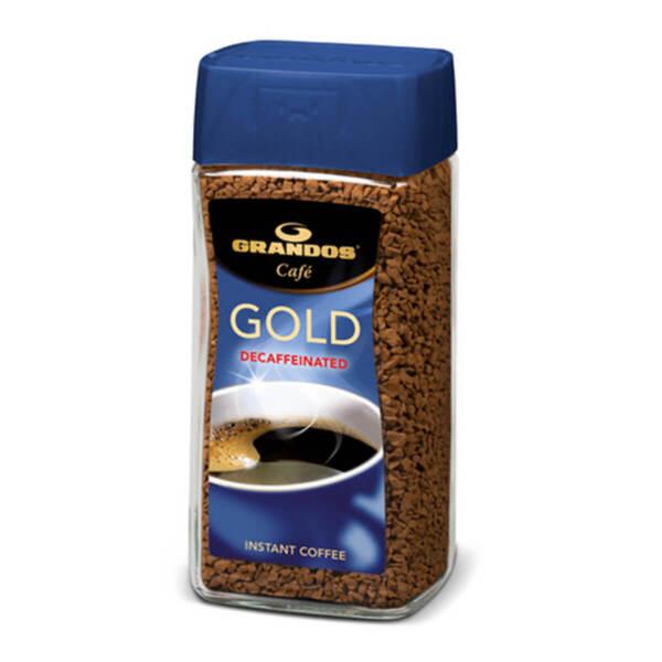 Безкофеиново разтворимо кафе на гранули Грандос Gold Сътклен буркан 100гр.