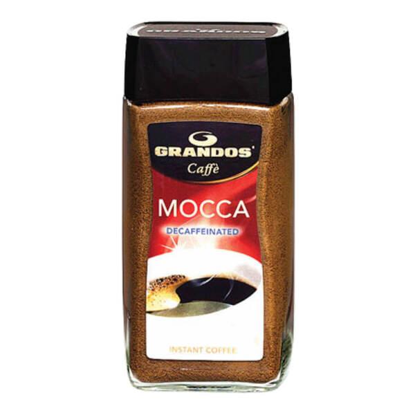 Безкофеиново разтворимо кафе на прах Грандос MOCCA  Стъклен буркан 100гр.