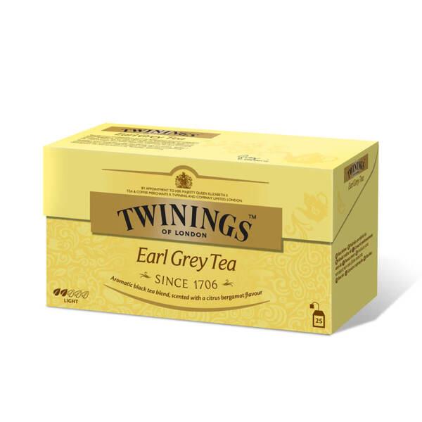 Чай Twinings Ърл Грей 25 филтър пакетчета х 2гр.