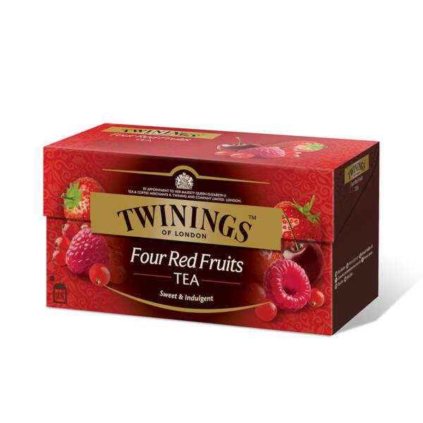 Чай Twinings 4 Червени плода 25 филтър пакетчета х 2гр.