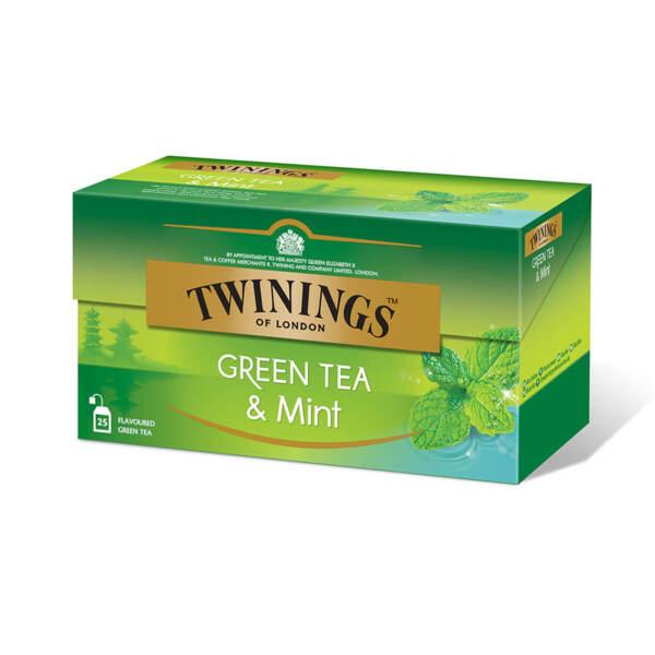 Зелен чай Twinings с мента 25 филтър пакетчета х 1.5гр.