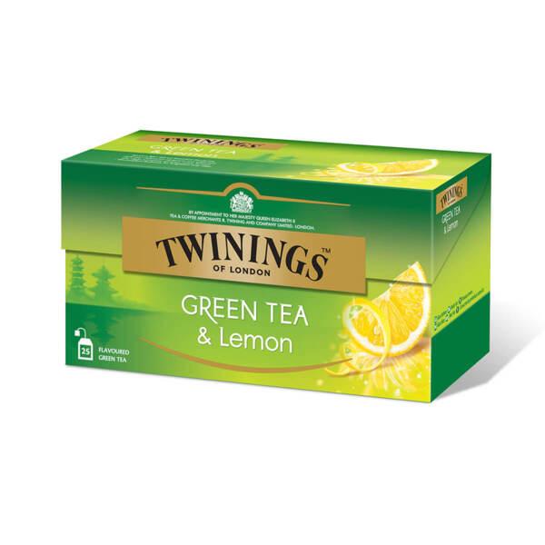 Зелен чай Twinings с лимон 25 филтър пакетчета х 1.6гр.
