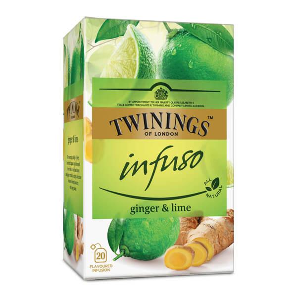 Чай Twinings Infuso Джинджифил и лайм 20 филтър пакетчета х 1.5гр.