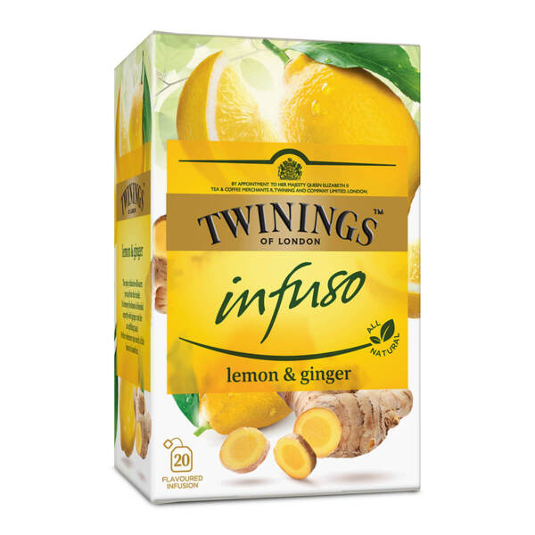 Чай Twinings Infuso Лимон и джинджифил 20 филтър пакетчета х 1.5гр.