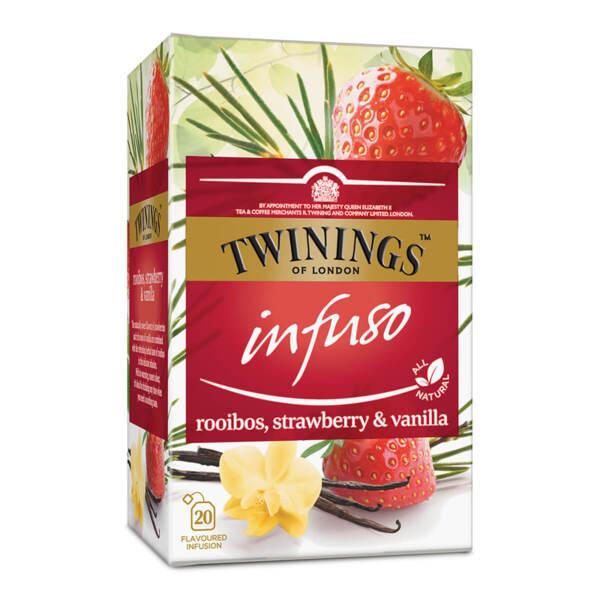 Чай Twinings Infuso Ройбос, ягода и ванилия 20 филтър пакетчета х 1.5гр.