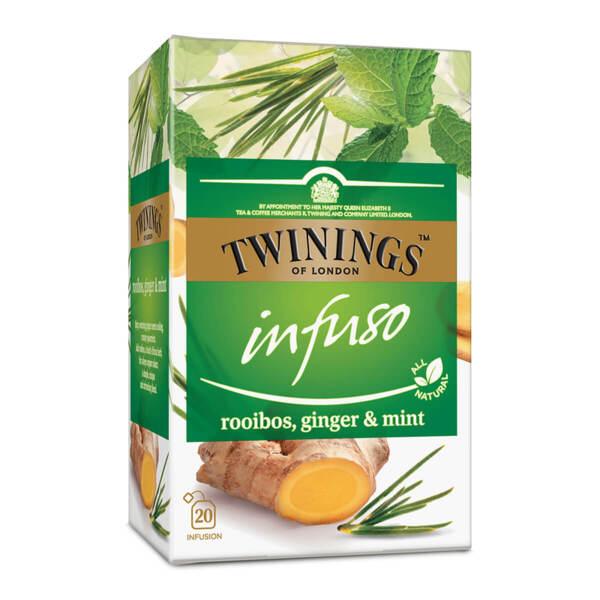 Чай Twinings Infuso Ройбос, джинджифил и мента 20 филтър пакетчета х 1.5гр.